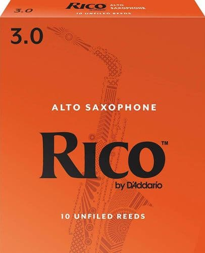 Rico 3.0  Strength Reeds for Alto Sax (Pack of 10) - RJA1030