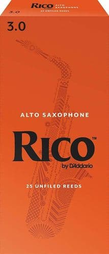Rico 3.0 Strength Reeds for Alto Sax (Pack of 25) - RJA2530