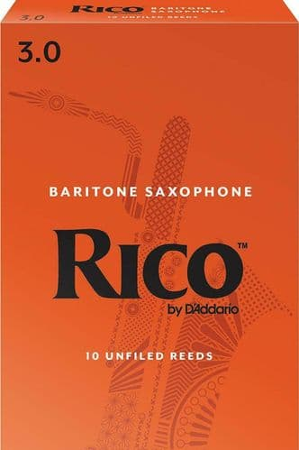 Rico 3.0 Strength Reeds for Baritone Sax (Pack of 10) - RLA1030