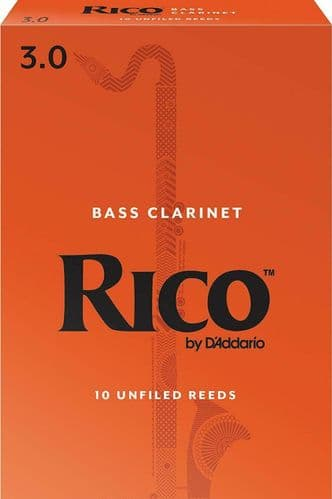 Rico 3.0 Strength Reeds for Bass Clarinet (Pack of 10) - REA1030