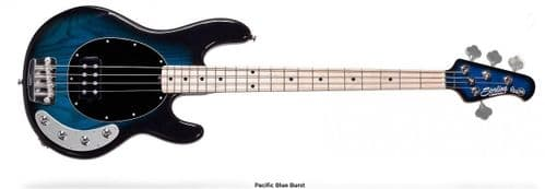 Sterling by Music Man RAY34PBB StingRay, Blue 4 string bass guitar - RAY34PBB