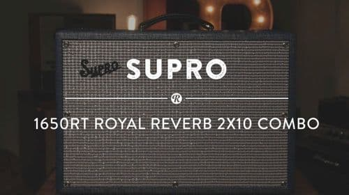 """Supro 1650RT Royal Reverb 45W 2x 10"""" Tube Guitar Combo Amplifier, Page, Hendrix"""