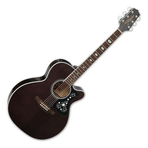 Takamine GN75CE Electro Acoustic Guitar, Trans Black - TK-GN75CE-TBK