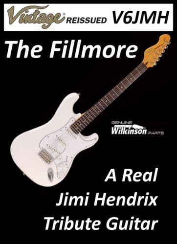 Vintage Electric Guitar Olympia White 'Fillmore' V6JMH - New Boxed