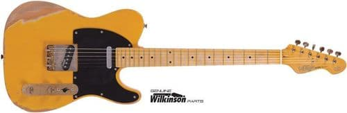 Vintage Icon V52MRBS ~ electric guitar  Distressed Butterscotch – New