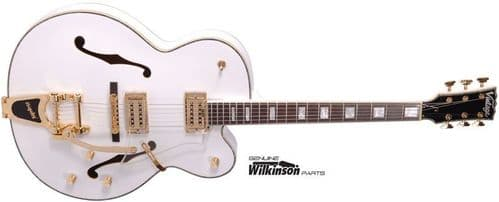 VINTAGE Semi Acoustic Electric Guitar - VSA850WH White - Clearance
