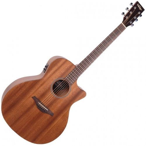 Vintage VE900MH Electro Acoustic Guitar - Mahogany