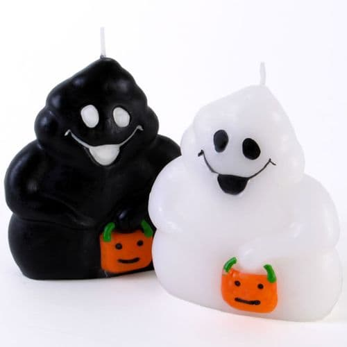 Black and White Ghosts Candles
