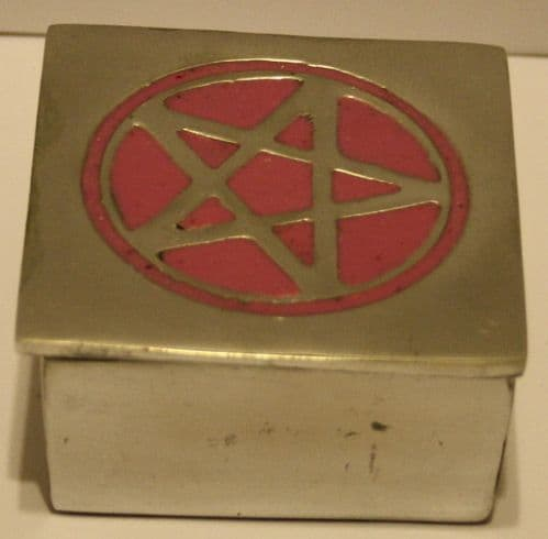 Trinket Box-Pink Pentagram