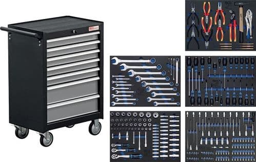 BGS - Workshop Trolley - 7 Drawers with 243 Tools - (4060)