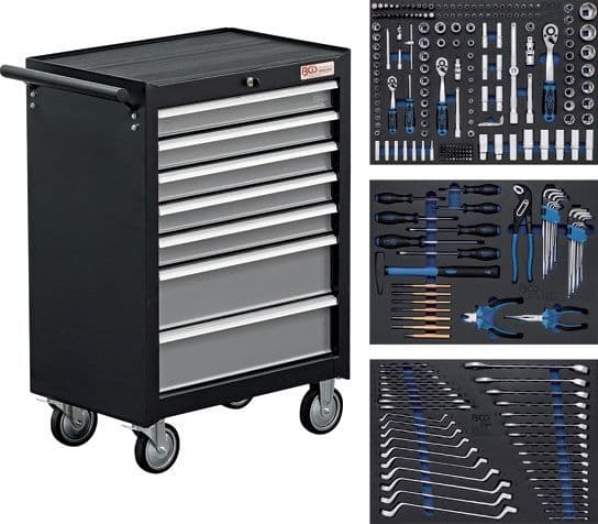 BGS - Workshop Trolley - 7 Drawers with 263 Tools - (4062)