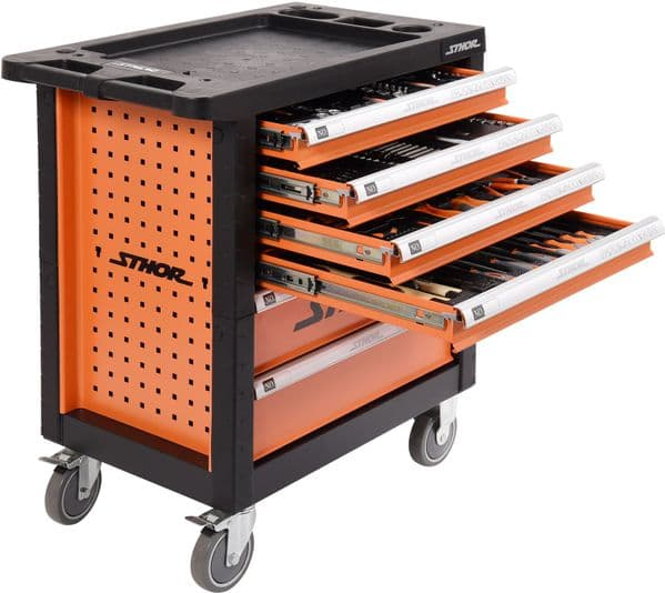 Sthor - Tool Trolley with 302 Tools - (58550)