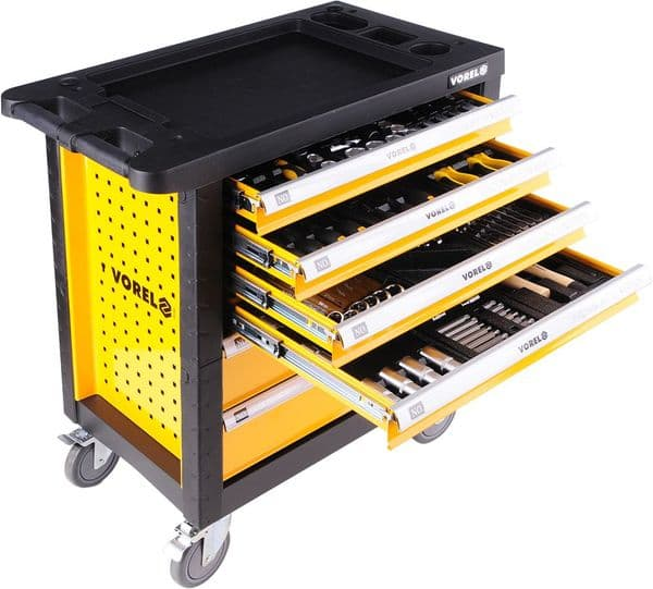 Vorel - 6 Drawers Tool Trolley with 177 tools - (58540)