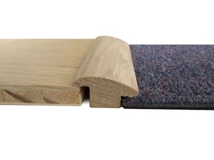 Mouldings - Wood to carpet reducer 15mm rebate