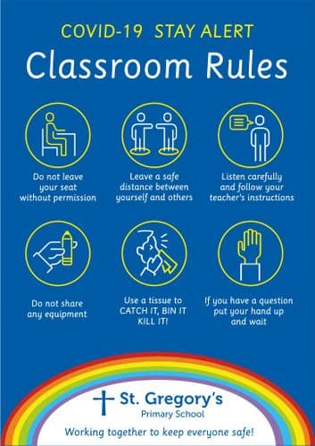 Stay Alert - Classroom Rules Sign