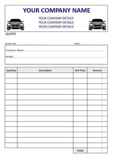 Mechanics NCR Quote Pads, Duplicate or Triplicate, 4 Column Lined