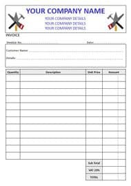 Builders  Invoice Pads