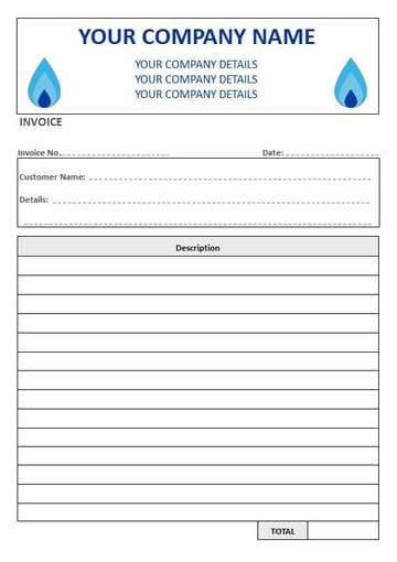 Central Heating Engineers NCR Invoice Pads, 1 Column Lined