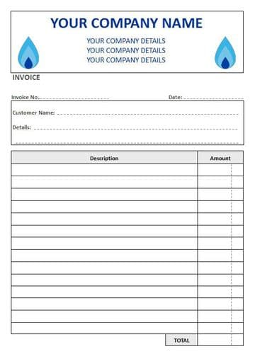 Central Heating Engineers NCR Invoice Pads, 2 Column Lined
