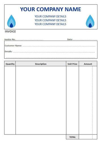 Central Heating Engineers NCR Invoice Pads, 4 Column