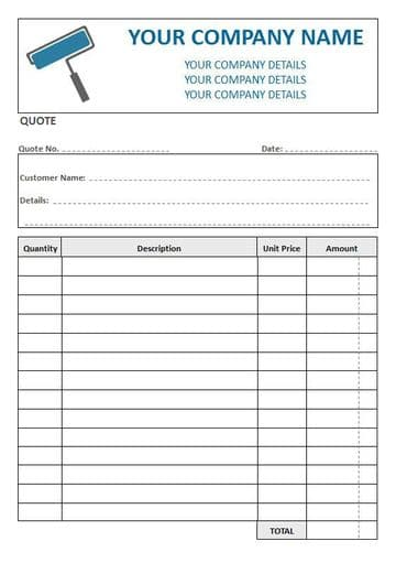 Decorators NCR Quote Pad, 4 Column Lined