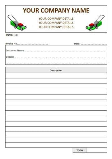 Gardeners NCR Invoice Pads, 1 Column Lined