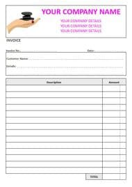 Massage Therapist NCR Invoice Pads