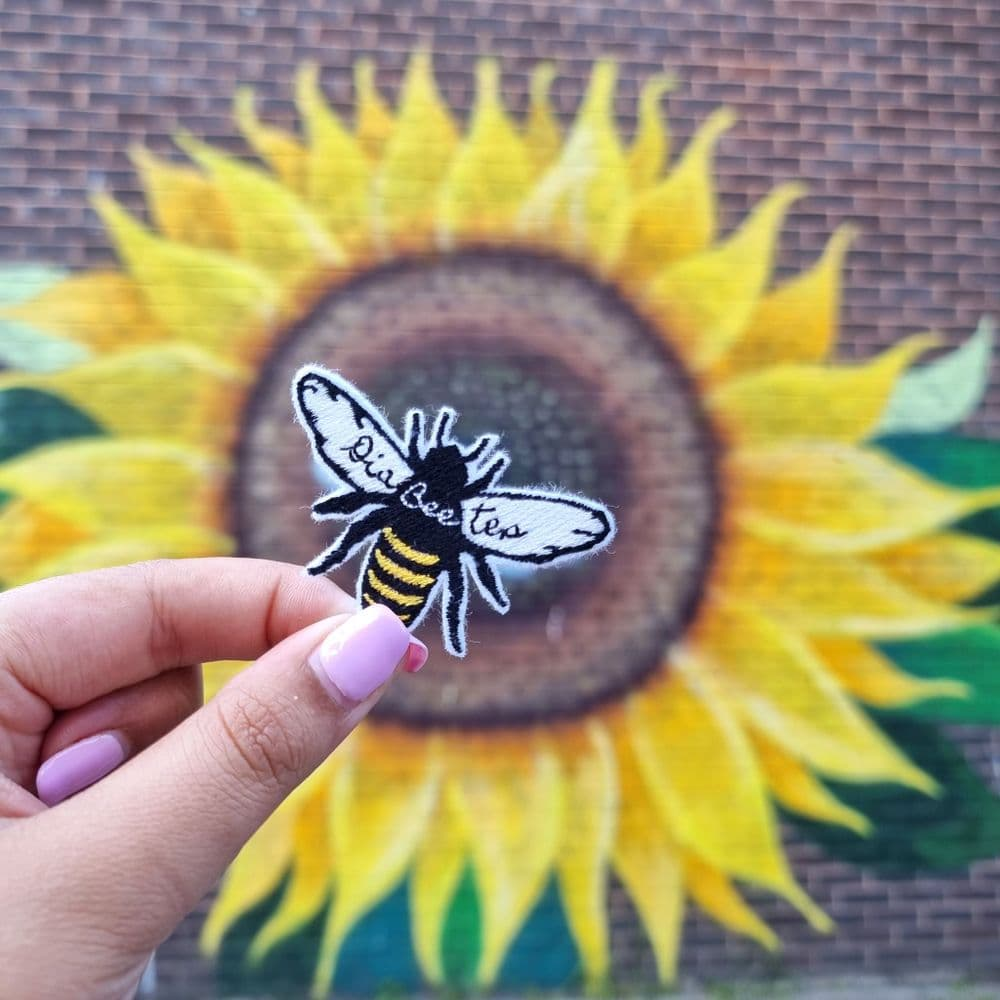 Dia-BEE-tes iron on Patch