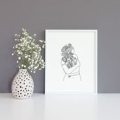 Embracing Diabetes Art Print