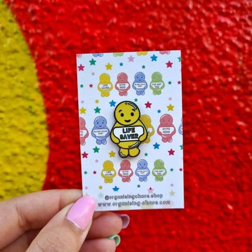 Life Saver Jelly Baby Enamel Pin