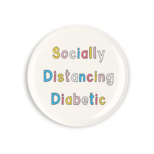 Socially distancing diabetic Badge