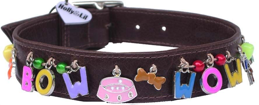 Alphabet charm dog collars - Holly & Lil Collars Handmade in Britain, Leather dog collars, leads & Dog harnesses.