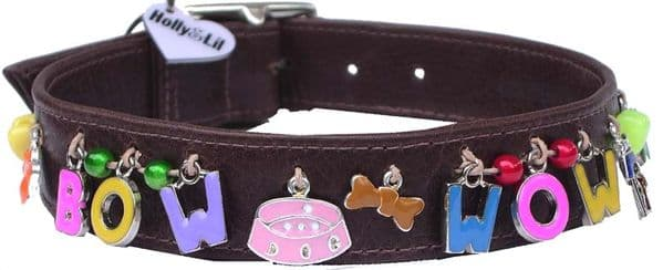 Alphabet charm dog collars