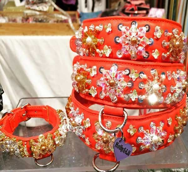 Crystal Ball Swarovksi Beads and Butterflies on this decorated semi precios collar