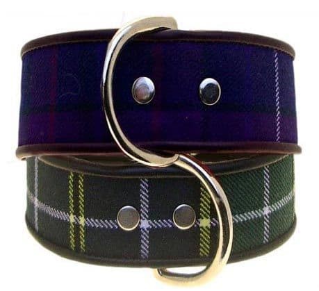 The Tartan Twill Dog Collar Collection - Holly & Lil Collars Handmade in Britain, Leather dog collars, leads & Dog harnesses.