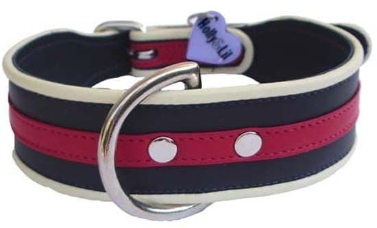 Vogue 'Regimental' Collar - Holly & Lil Collars Handmade in Britain, Leather dog collars, leads & Dog harnesses.