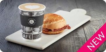 "Box - ""Cafe Life"" NEW Smooth Double Wall Paper Cups 300ml (12oz)"