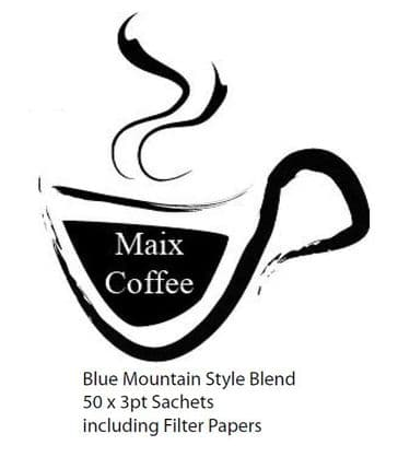 Maix Coffee 50x3pint Sachets 'Blue Mountain Style'Blend (10.73p/Cup)