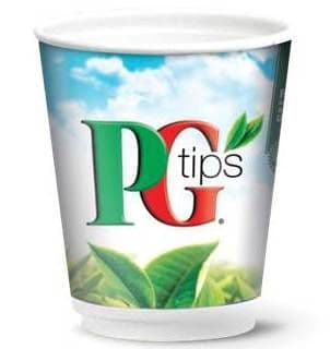 PG Tips Tea BLACK 12oz Sealed Incup Drink