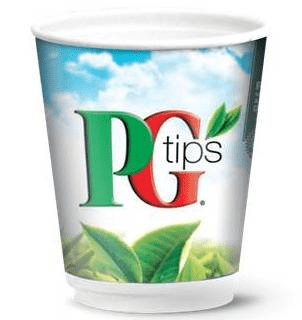 PG Tips Tea WHITE 12oz Sealed Incup Drink