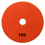 "100mm (4"") P100 Diamond polishing pad. Dry polishing."