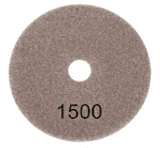 "100mm (4"") P1500 Diamond polishing pad. Wet polishing."