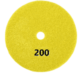 "100mm (4"") P200 Diamond polishing pad. Wet polishing."