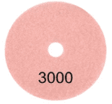 "100mm (4"") P3000 Diamond polishing pad. Wet polishing."