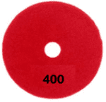 "100mm (4"") P400 Diamond polishing pad. Wet polishing."