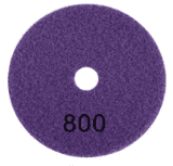 "100mm (4"") P800 Diamond polishing pad. Wet polishing."