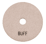 "100mm (4"") White Buff Diamond polishing pad. Wet polishing."