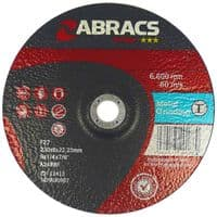 100mm Proflex grinding discs. Depressed centre for metals. Price per 25 discs. Type 27