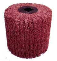 100mm x 100mm x 19mm Non-woven abrasive wheel for Satinex machines.