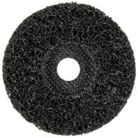 "115mm (4 1/2"") Non-woven black poly disc. Price each."